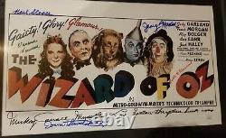 The Wizard Of Oz Custom Framed Movie Print Poster Signé Autographié + Coa