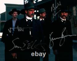 Tombstone Cast Val Kilmer Elliott +2 Signé 8x10 Photo Photo Autographiée Coa