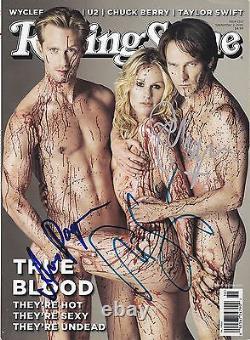 True Blood Signed Cast Rolling Stone Magazine Avec Hologram Coa Rare