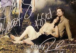 Twilight Cast Stewart Pattinson Lautner Signé Affiche De Photo Autographiée 8x10