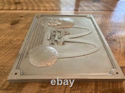 Vintage Cast Metal Mcdonald's Ray Kroc Restaurant Plaque Publicitaire 18x14