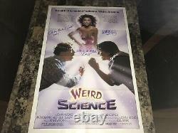 Weird Science Cast Rare Originale Signée 1 Fiche Affiche Du Film Photo Exacte Preuve