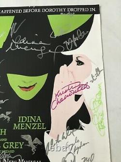 Wicked Originale Broadway Cast Affiche Signée Menzel Idina Kristin Chenoweth