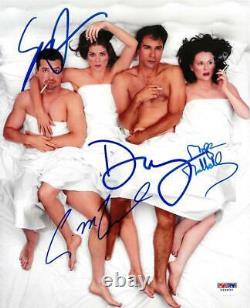 Will & Grace Cast Signé Autographié 8x10 Photo (4 Sigs) Psa/adn #v69830