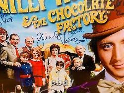Willy Wonka 16x20 Cast Photo Autographed Signé Personnalisé Encadré Avec Jsa Loa
