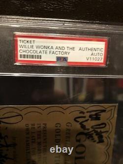 Willy Wonka All Kids X4 Signé Golden Ticket Slabbed Movie Cast Psa/dna