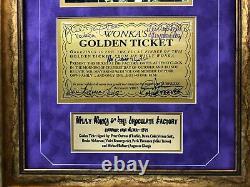 Willy Wonka All Kids X5 Signé Encadré Golden Ticket Jsa Coa Autograph Movie Cast