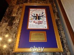Willy Wonka & Cast Chocolate Factory + 7 Signé Affiche Du Film Gene Wilder Psa