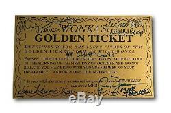 Willy Wonka Tous Les Enfants X5 Signé Golden Ticket Jsa Coa Autograph Film Cast Wilder